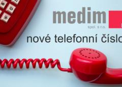 Organizátor odborných akcí, společnost Medim mění hlavní kontaktní číslo!